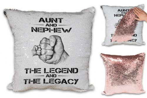 The Legend And The Legacy Sequin Reveal Magic Cushion Cover - Rose Gold